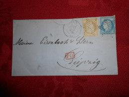 EE_29_lettre  De Paris  A Etudier,verso,VARIETé - Postmark Collection (Covers)