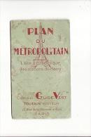 Plan Du Métropolitain Vers 1900, Métro De Paris :liste Des Stations - Vieux Papiers