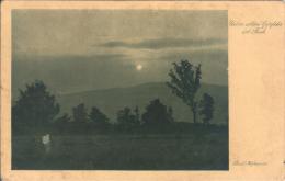 "German Sepia Photo Postcard - Evening Landscape - ""Über Allen Gipfeln Ist Ruh"" - Hofmeister / Wiechmann 126 (1915) - Autres Illustrateurs"