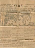 """JOURNAL TRIMESTRIEL GUERRE 1914 / 18 ECHO """"ENTRE NOUS"""" N° 4 OCTOBRE DECEMBRE 1917 - Autres"""