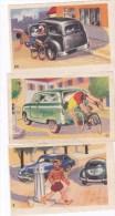 """Lot De3 Images BISCUITERIE  ADAM ;N°9 , N°42 Et  64""""Code De La Route"""" - Vieux Papiers"""