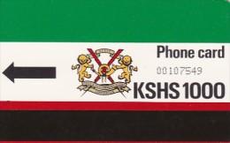 Kenya, KEN-?, 1000 KSHS, K.P.T.C  LOGO, No Notch And ´´T´´ Under Black Arrow, 2 Scans. - Kenya