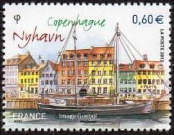 France N° 4640 ** Capitales Européennes - Copenhague - Nyhavn - Unused Stamps