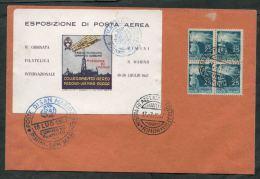 1947 Italia, Busta Ricordo Collegamento Aereo Rimini San Marino - 6. 1946-.. Repubblica