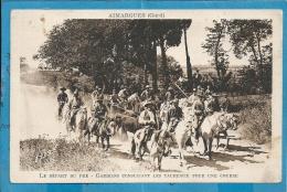Gard- Aimargues -Le Départ Du Pré, Gardians Conduisant LesTaureaux Pour Une Course. - Altri Comuni