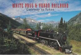 White Pass & Yukon Railroad Engine 73 At Glacier, Yukon - Postcard Factory YK-011 Unused - Yukon