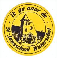 AUTOCOLLANT  STICKER WATERSCHEI - IK GA NAAR DE ST JANSSCHOOL - Autocollants