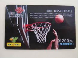 China Prepaid Phonecard,basketball,used - Sport