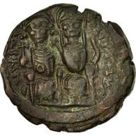 Monnaie, Justin II, Follis, Nicomédie, TTB, Cuivre, Sear:369 - Byzantines