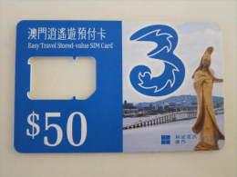 Macau Stored-value SIM Card,bridge And Statue,without Chip - Macau