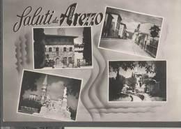 1956 AREZZO VEDUTINE FG V SEE 2 SCANS ANNULLO A TARGHETTA GIOSTRA DEL SARACINO - Arezzo
