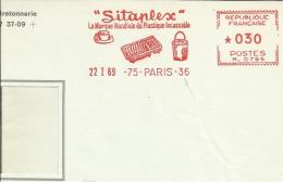 Lettre EMA Havas M 75 Paris  Sitaplex Marque Mondiale Plastique ,  Incassable  Metiers Theme 14/46 - Chimie