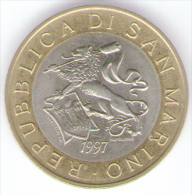 SAN MARINO 1000 LIRE 1997 BIMETALLICA - San Marino