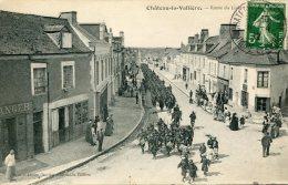 CPA 37 CHATEAU LA VALLIERE ROUTE DU LUDE 1912 - Autres Communes