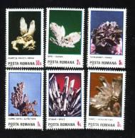 Minereux Minerals,Quart,Cupru,Stib Ina Etc.1985 Full Set MNH Romania. - Minerals
