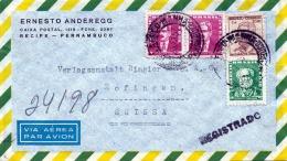 1957 BRASILIEN, Reco-FP-Brief 4 Fach Frankiert, Stempel 1957 Von Recife-Pernambuco Brasil > Zofingen Schweiz - Brasilien