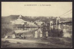 Dépt : (95) LA ROCHE-GUYON . Le Pont Suspendu (1838 -1914).  Petite Animation. - La Roche Guyon