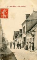CPA 37 VALLERES RUE DE SAUMUR 1907