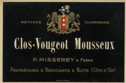 21 CLOS-VOUGEOT Mousseux  P.MISSEREY & F. Négociants à Nuits St Georges - Etiquettes