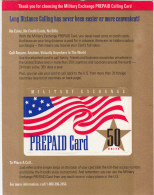 USA - Military Exchange, MCI Prepaid Card 50 Units, Unused - Armée