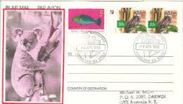 AUSTRALIE.  Koalas Du Cleland Wildlife Park (South-Australia) Aérogramme - Stamps