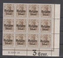 Belgien,11b,3269.18,+Inschrift 3 Cent +3x Rechts Dgz,postfrisch (4130) - Besetzungen 1914-18