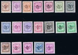 TYPE G - PO784/786/790/791 WIT/BLANC - COB : PO780/798 *** - Typos 1951-80 (Ziffer Auf Löwe)