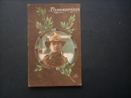 Remembrance Portrait D'un Soldat Américain En Médaillon -  RIP 5045 NON CIRCULEE L142 - Guerre 1914-18
