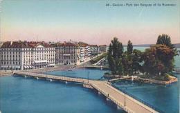 Switzerland Geneve Pont des Bergues et ile Rousseau