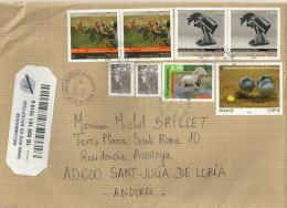 Belle Lettre Recommandée Adressée En Andorre, Avec Timbre á Date Arrivée Andorre Au Recto. - France