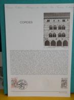 FDC, Cordes, Cité Médiévale - 81 Cordes - 5.4.1980 - 1er Jour, Collection Historique - FDC