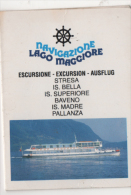 Alt407 Orario, Timetable | Traghetto, Ferry, Bateau Lago Maggiore | 1995 | Stresa, Baveno, Pallanza, Isole Borromee - Europa