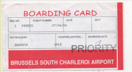 Alt403 Carta Imbarco, Boarding Pass, Ryanair Flight, Volo, Airline, Linea Aerea, Skavsta Svezia, Sweden - Plane