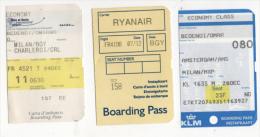 Alt414 Carta Imbarco Boarding Pass Ryanair KLM Flight Volo Airline Linea Aerea Orio Serio Bergamo Charleroi  Amsterdam - Plane