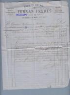 Lettre Ancienne De 1867 - ARGELES Sur MER ( Pyrénées Orientales ) - Maison Ferrand - Brasserie Barthel Walter  - RARE - - France