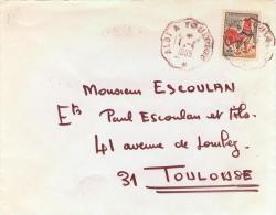 Cachet Convoyeur Sur Lettre Albi à Toulouse 1965 - Postmark Collection (Covers)