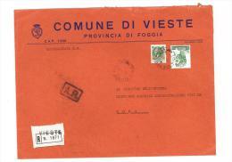 CAP 71019 - VIESTE - FG  - RACC - PUGLIA - ANNO 1980 - F.TO 18 X 24  - STORIA DEI COMUNI D´ITALIA - Affrancature Meccaniche Rosse (EMA)