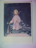 OSANNA   ANGELO   ANGELS   ILLUSTRATA  SIGNED   VIAGGIATA COME DA FOTO - Anges