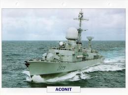 """France, Frégate """"l'aconit"""", Tirage éd; ATLAS, 24cmsx15.5cms, Au Dos Renseignements  Divers (b1) - Bateaux"""
