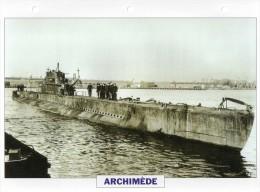 France 1930, Sous-marin ARCHIMEDE, édit.ATLAS, 24cmsx15.5cms, Au Dos Renseignements  Divers (b1) - Bateaux