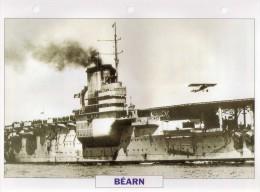 France 1920, BEARN Porte-aéronefs, édit.ATLAS, 24cmsx15.5cms, Au Dos Renseignements  Divers (b2) - Bateaux
