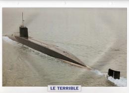 France 1969, LE TERRIBLE,  édit.ATLAS, 24cmsx15.5cms, Au Dos Renseignements  Divers (b5) - Bateaux