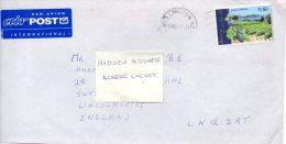 NOUVELLE-ZELANDE. N°1523 De 1997 Sur Enveloppe Ayant Circulé. Vignoble. - Wines & Alcohols