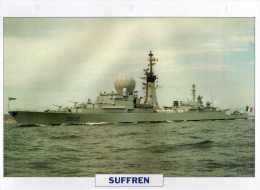France 1965 SUFFREN,  édit.ATLAS, 24cmsx15.5cms, Au Dos Renseignements  Divers (b6) - Boats
