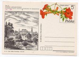 Entier N° ? Sur CP - 200ème Anniversaire Du Jardin Botanique De L´Université Jagellonne à Cracovie - Stamped Stationery