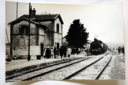 CP Photo Train Vapeur Gare à Situer Cliché Schnabel - Bahnhöfe Mit Zügen