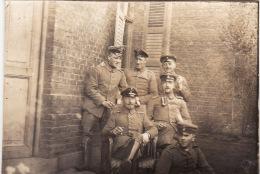 Photo Originale Octobre 1914 BENIFONTAINE (près Wingles) - Un Groupe D'officiers Allemands (A12, Ww1, Wk1) - Unclassified