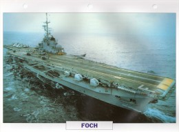 France 1960, FOCH,  édit.ATLAS, 24cmsx15.5cms, Au Dos Renseignements  Divers (b8) - Bateaux