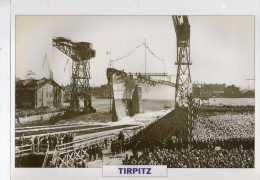 Allemagne 1939,  TIRPITZ,  édit.ATLAS, 24cmsx15.5cms, Au Dos Renseignements  Divers (b15) - Bateaux