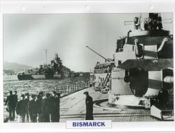 Allemagne 1941,  Le BISMARCK,  édit.ATLAS, 24cmsx15.5cms, Au Dos Renseignements  Divers (b15) - Bateaux